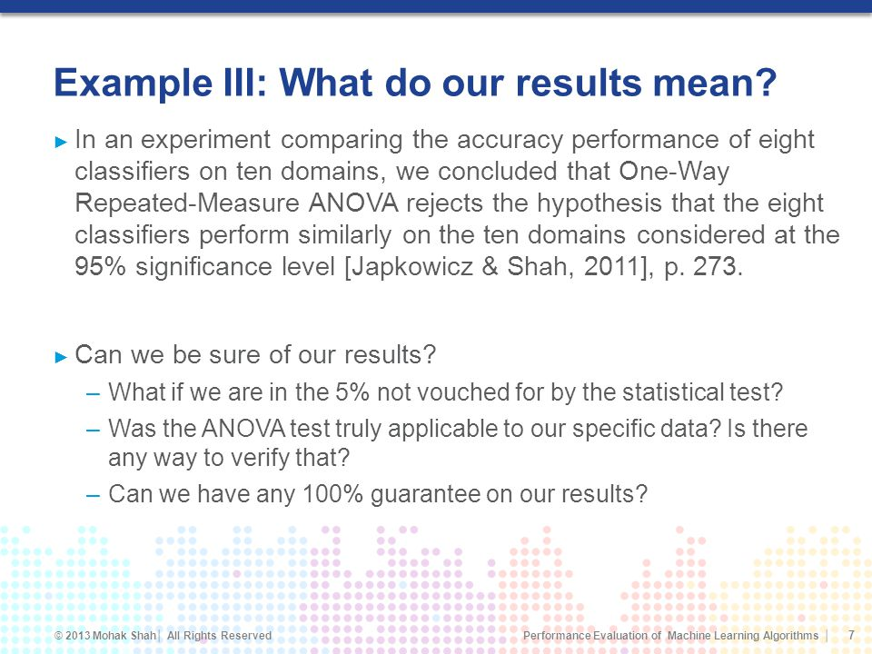 Example III: What do our results mean