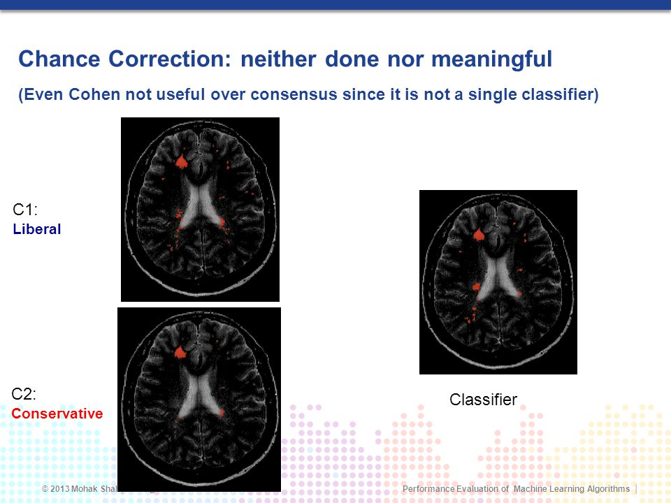 Chance Correction: neither done nor meaningful (Even Cohen not useful over consensus since it is not a single classifier)