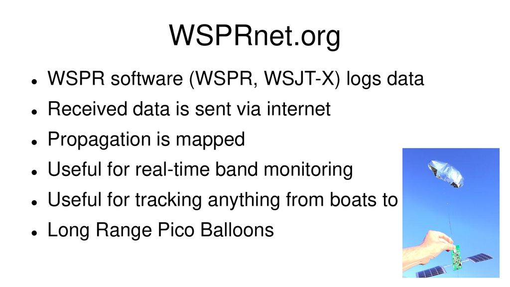 WSPR – Weak Signal Propagation Reporter - ppt download