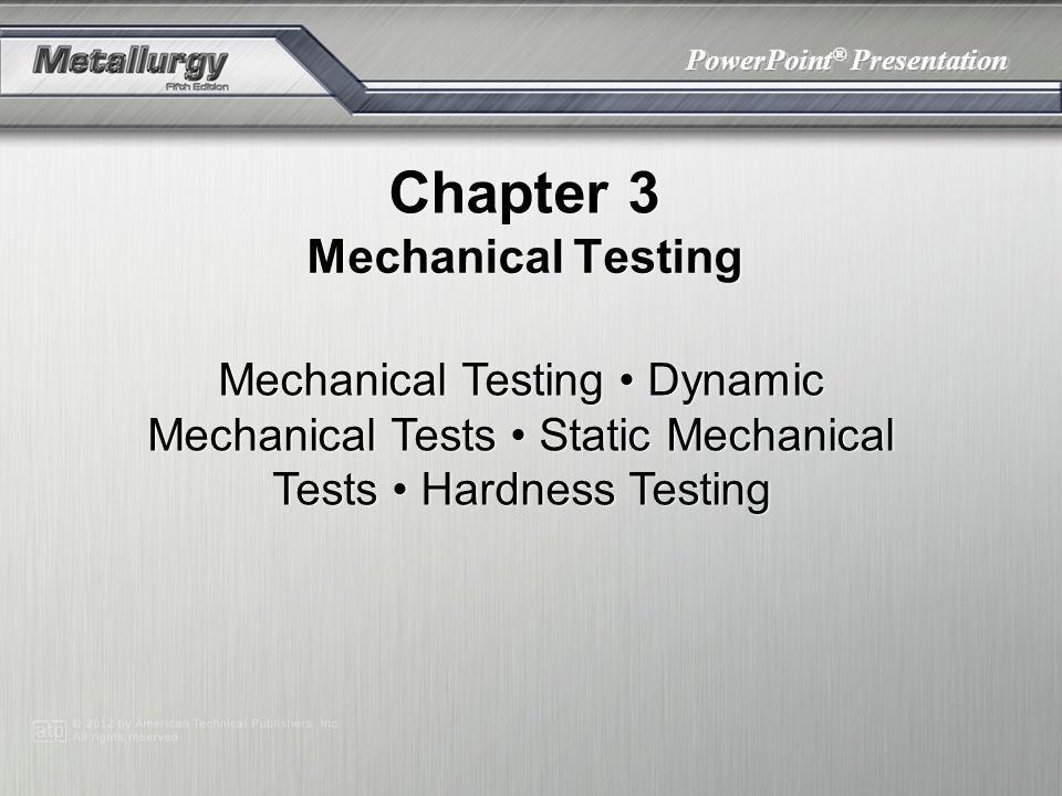 Chapter 3 Mechanical Testing