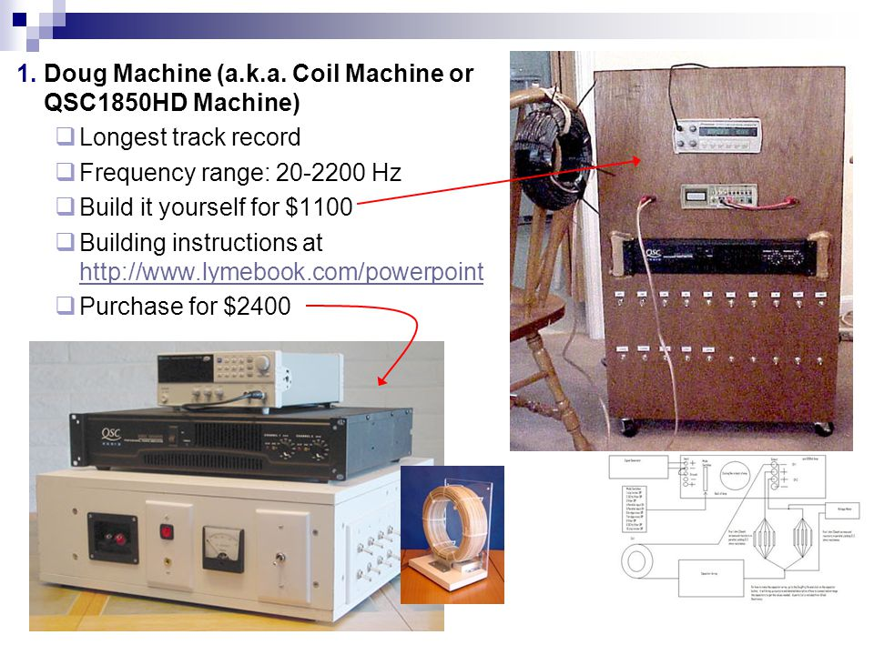 Doug Machine (a.k.a. Coil Machine or QSC1850HD Machine)
