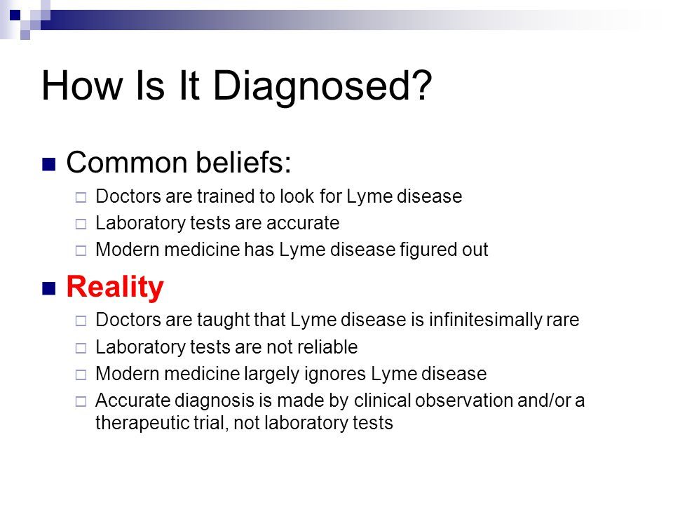 How Is It Diagnosed Common beliefs: Reality