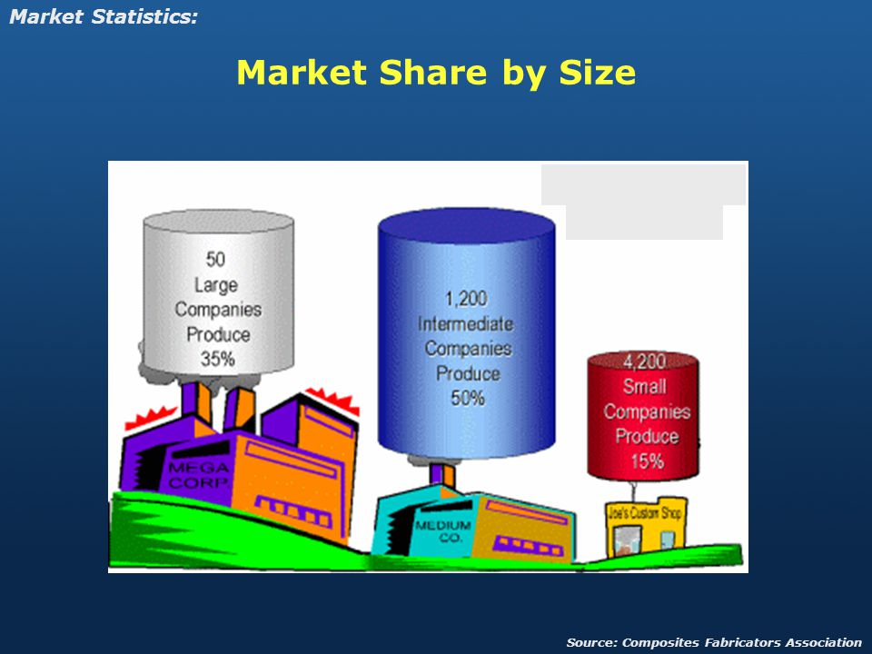 Market Share by Size Market Statistics: