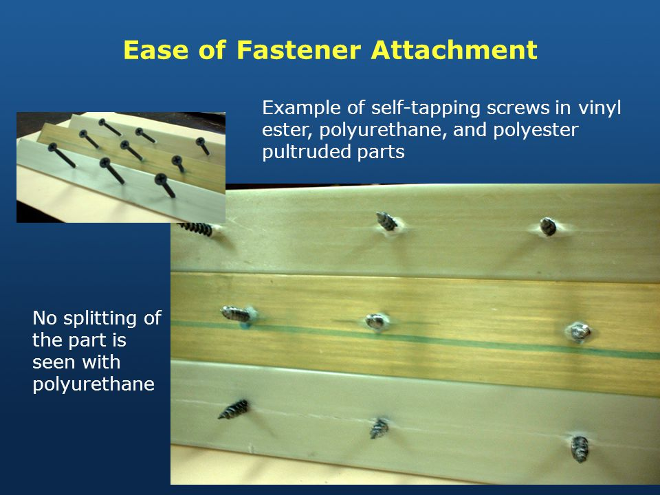 Ease of Fastener Attachment