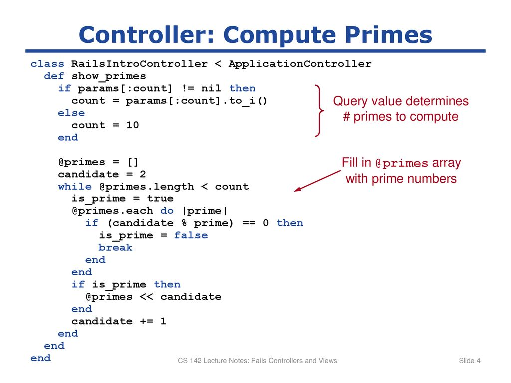 CS 142 Lecture Notes: Rails Controllers and Views - ppt download