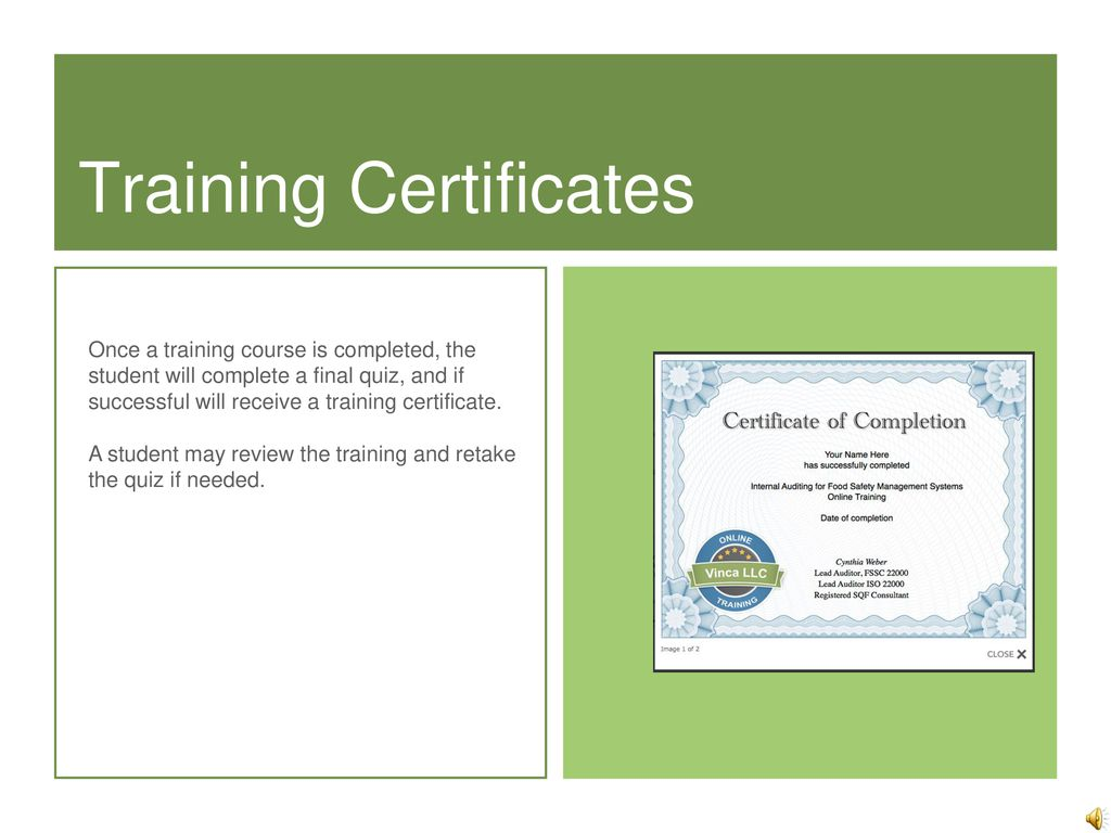 Food Safety Certification - ppt download