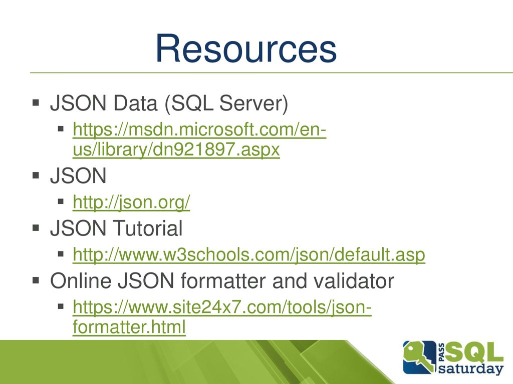 JSON for the Data Mortal - ppt download