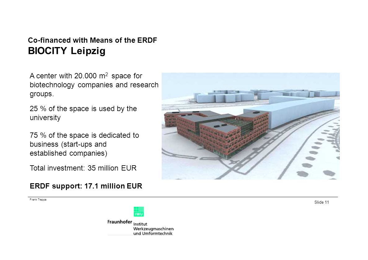 Co-financed with Means of the ERDF BIOCITY Leipzig