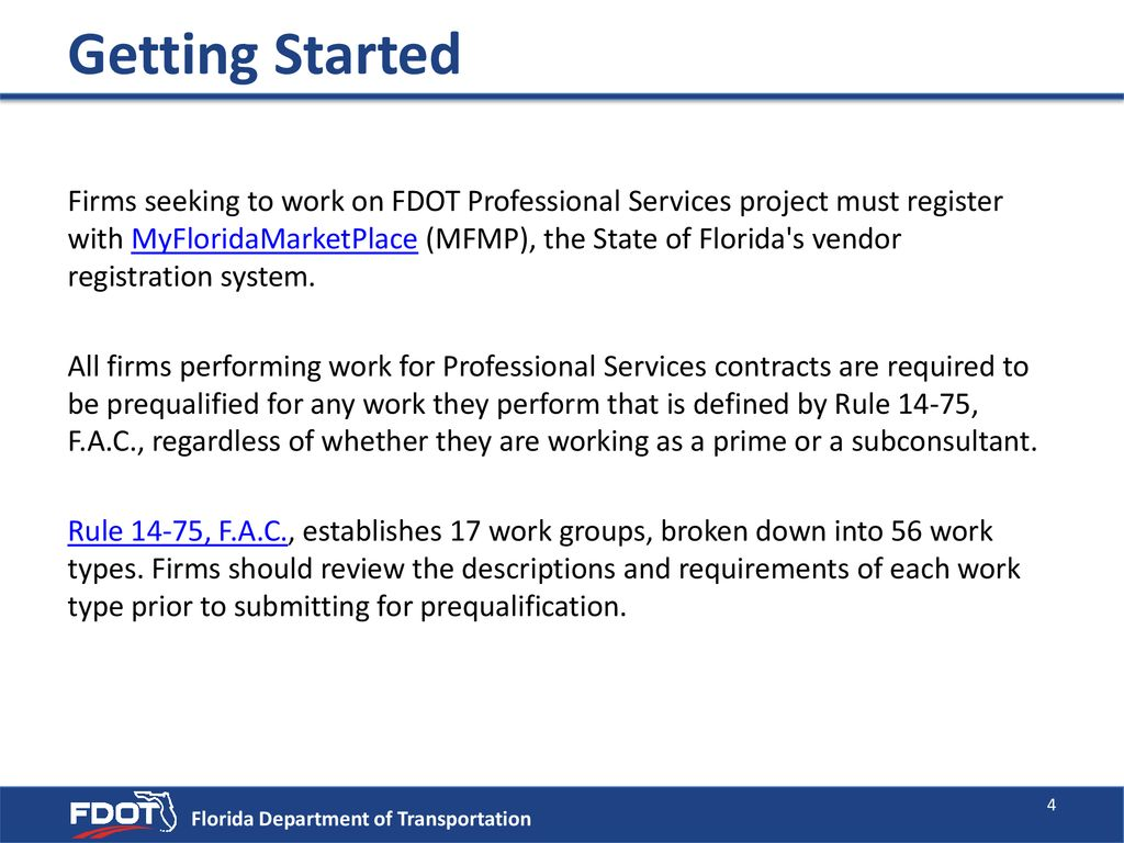 Doing Business with FDOT Professional Services - ppt download
