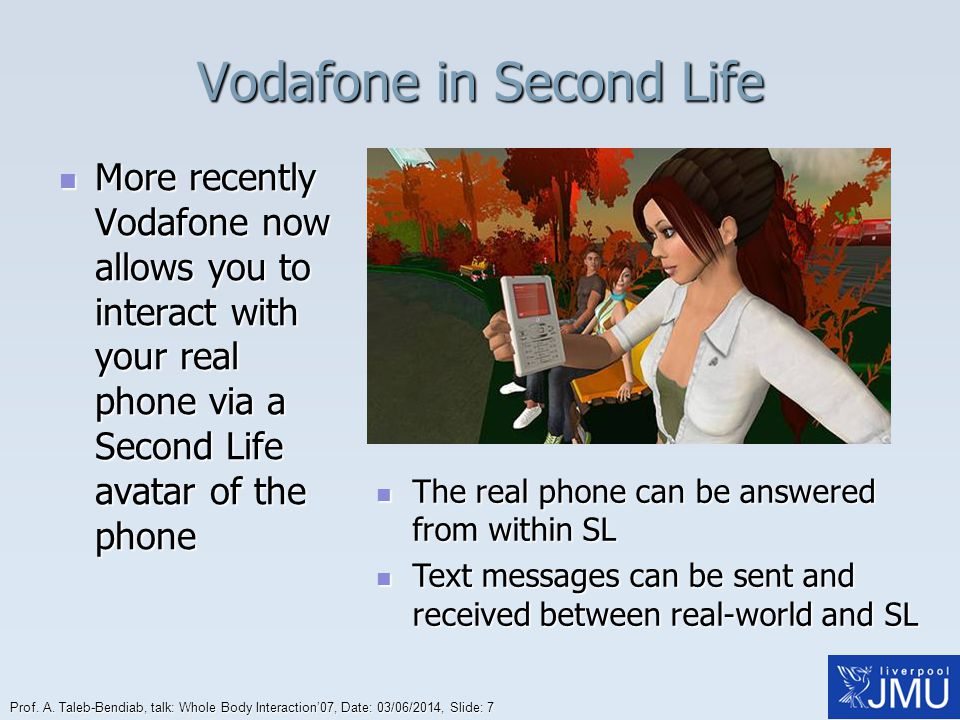 Vodafone in Second Life