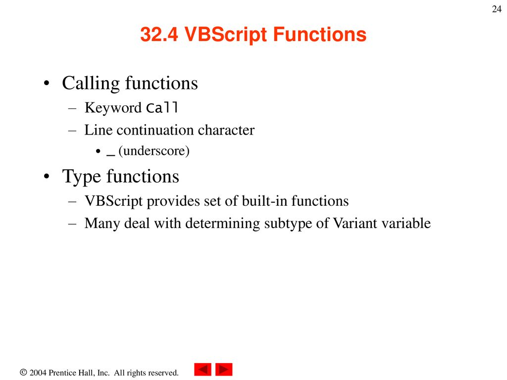 Vbscript Functions With Examples