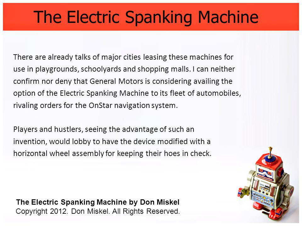 The Electric Spanking Machine