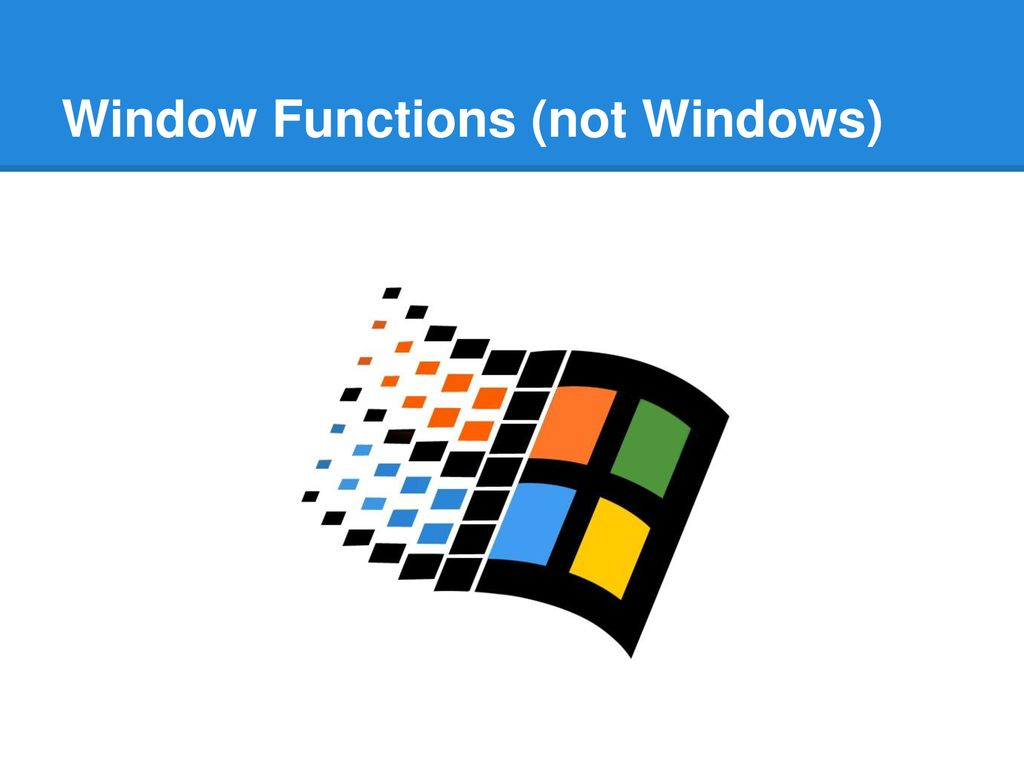 Data Analysis with SQL Window Functions - ppt download