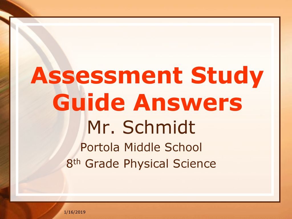 Assessment Study Guide Answers - ppt download