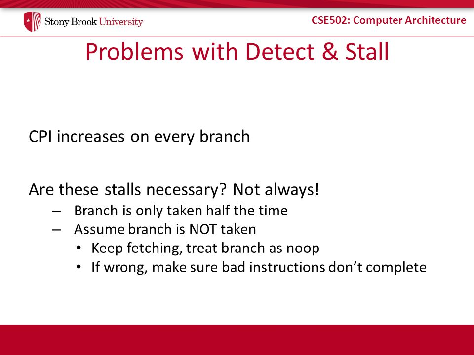 Problems with Detect & Stall