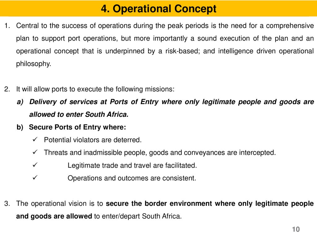 4. Operational Concept