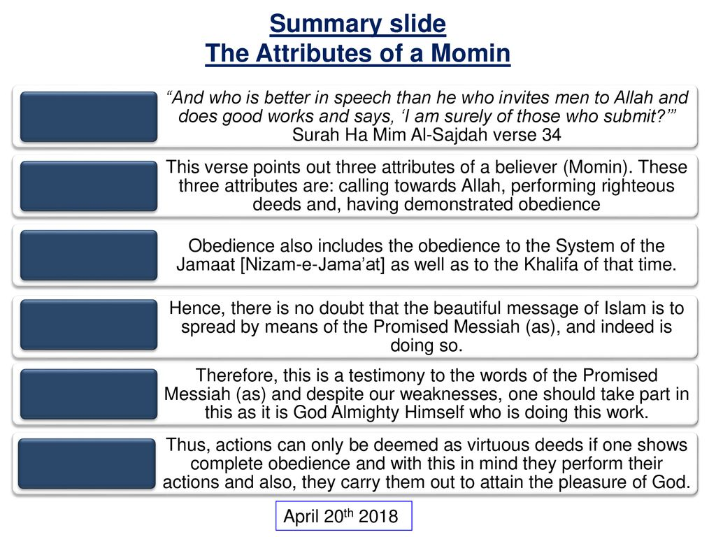 The Attributes of a Momin - ppt download