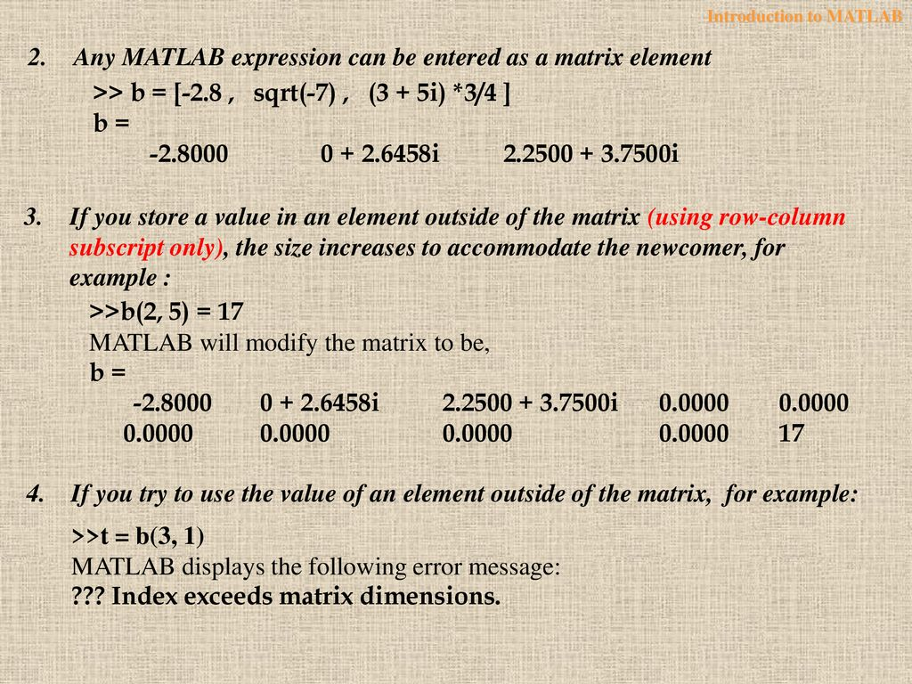 Introduction to MATLAB - ppt download