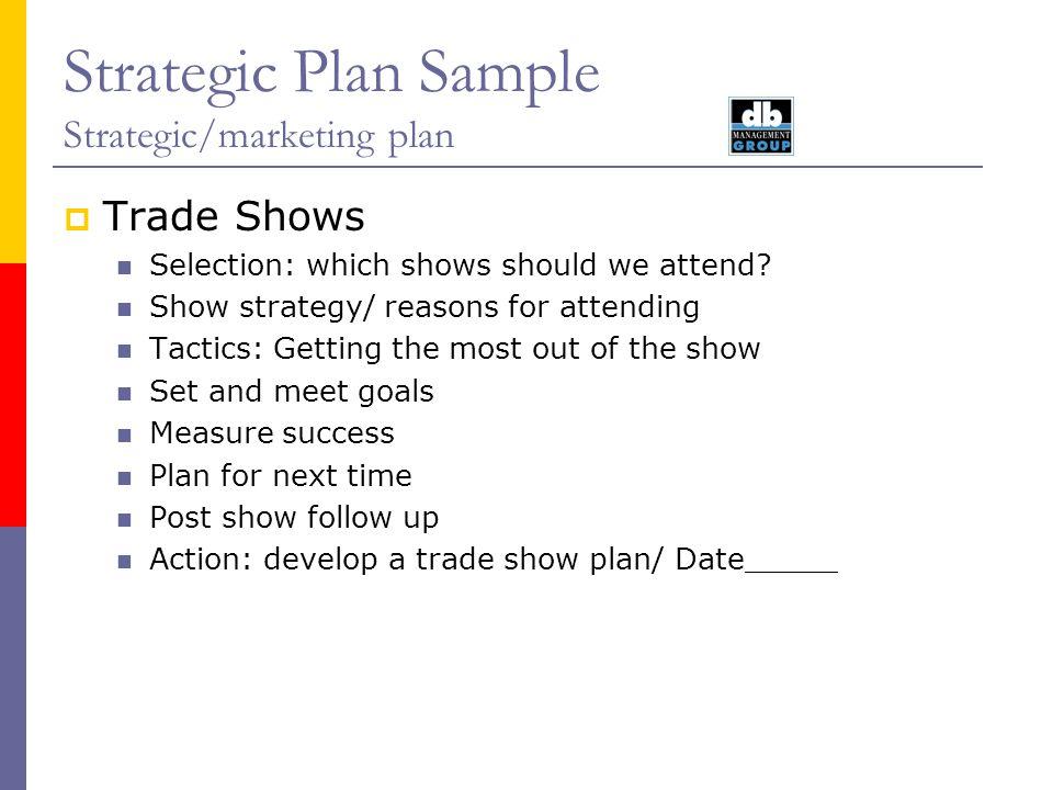 Strategic Plan Sample Marketing