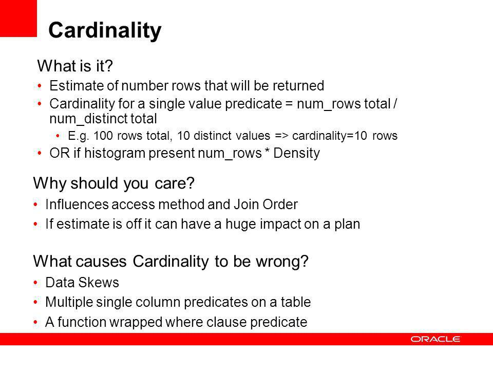 Cardinality What is it Why should you care