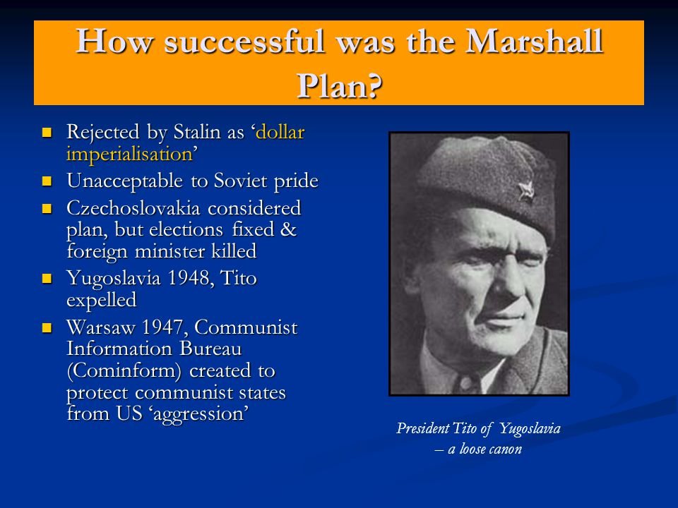 How successful was the Marshall Plan