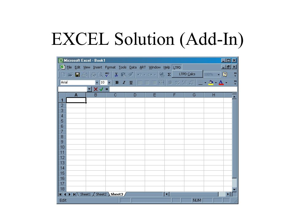 EXCEL Solution (Add-In)