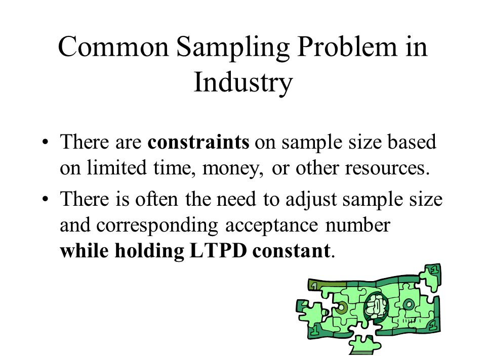 Common Sampling Problem in Industry