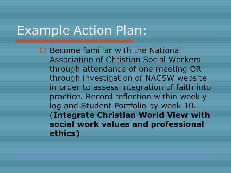 Example Action Plan:
