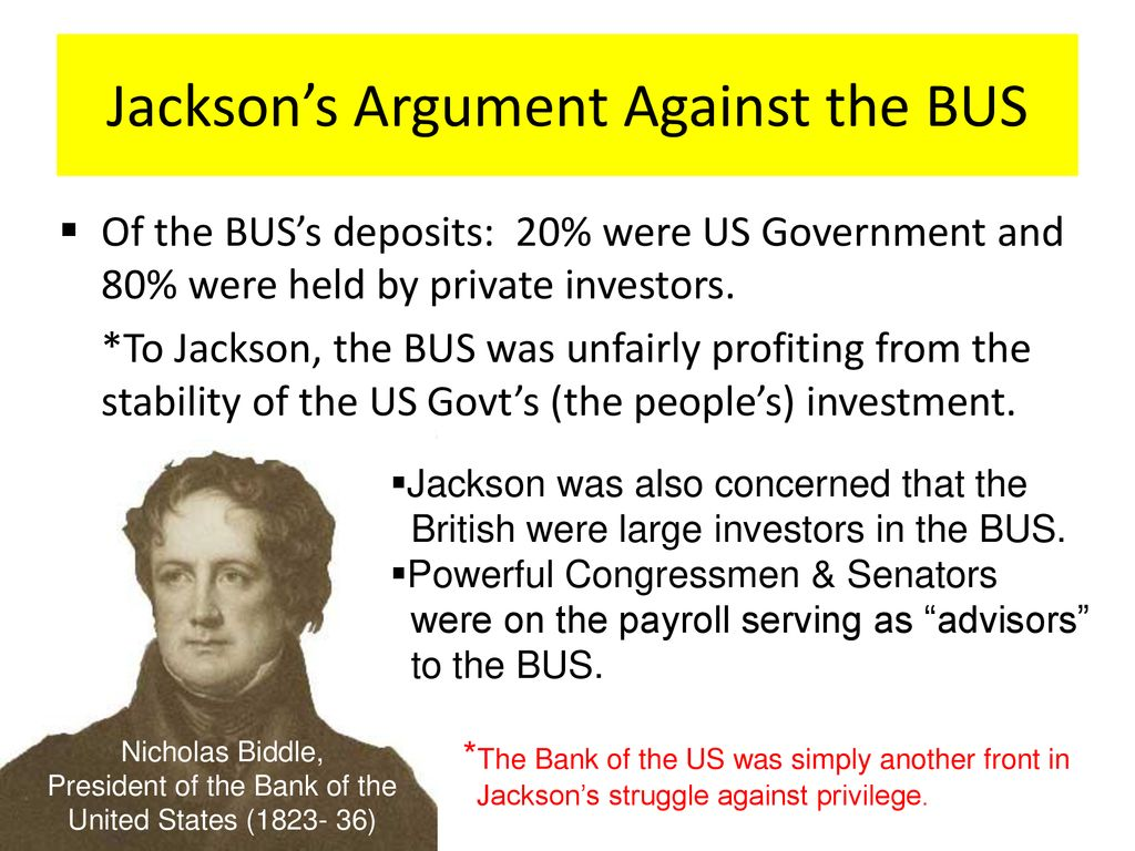 Jackson The Bank War Ppt Download