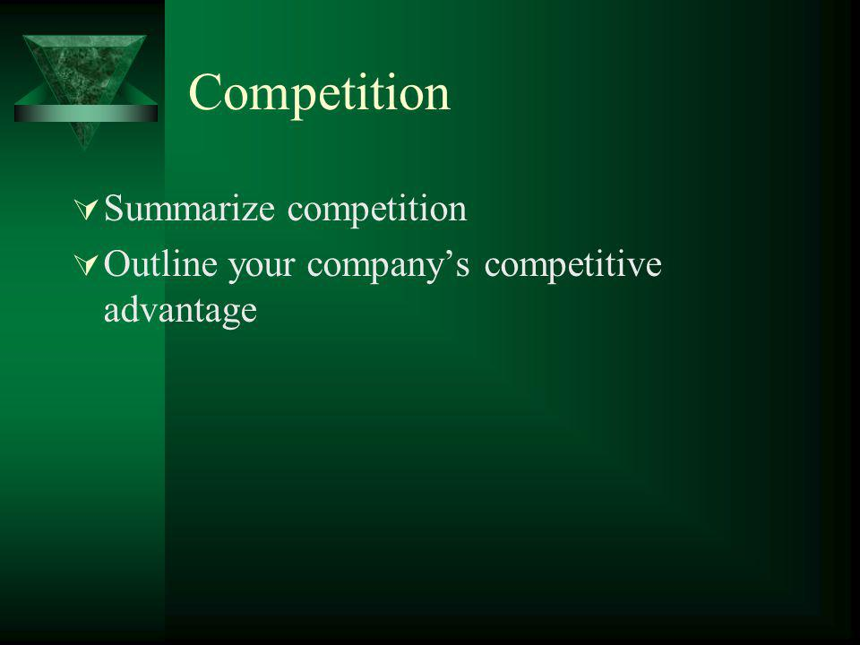 Competition Summarize competition