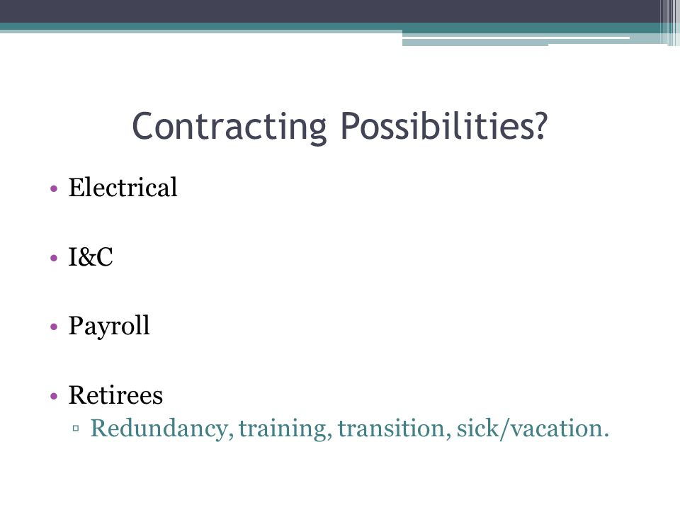 Contracting Possibilities