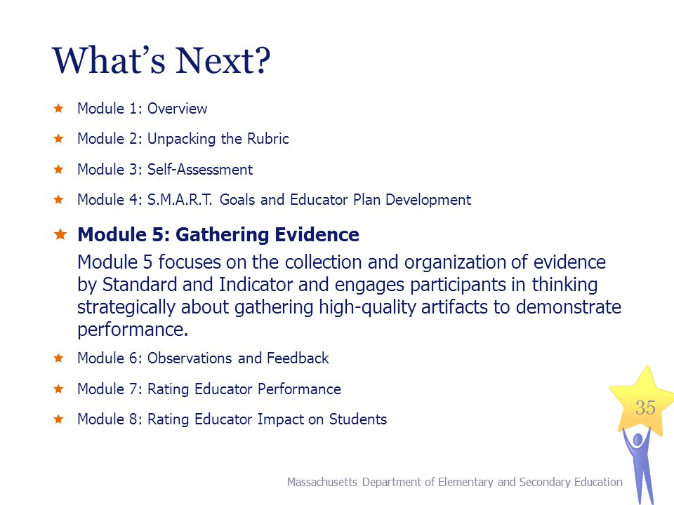What's Next Module 5: Gathering Evidence