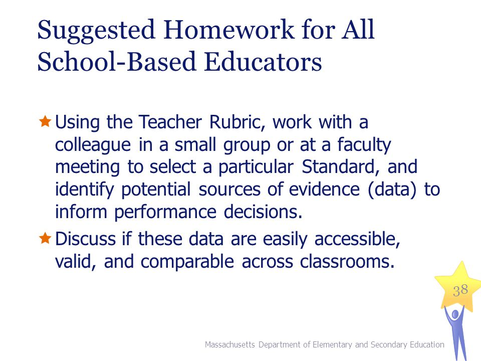 Suggested Homework for All School-Based Educators