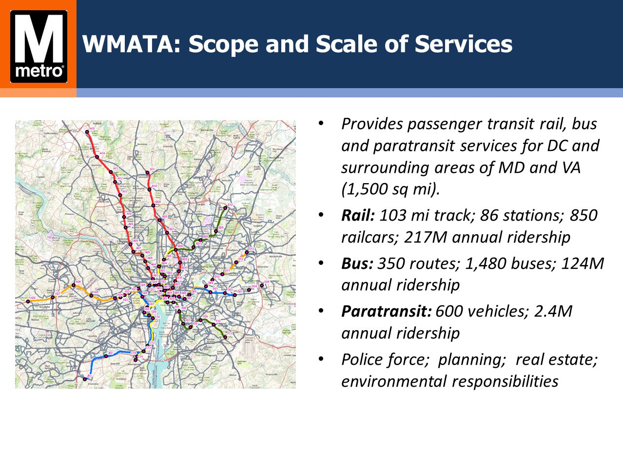 WMATA: Scope and Scale of Services