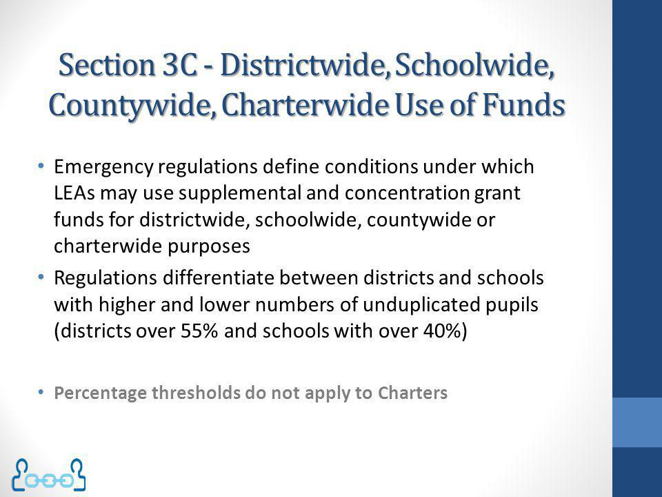 Section 3C - Districtwide, Schoolwide, Countywide, Charterwide Use of Funds
