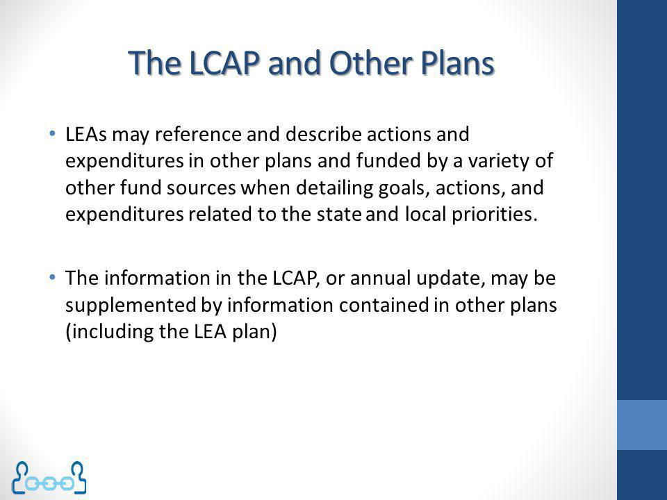 The LCAP and Other Plans