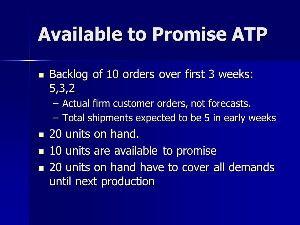 Available to Promise ATP