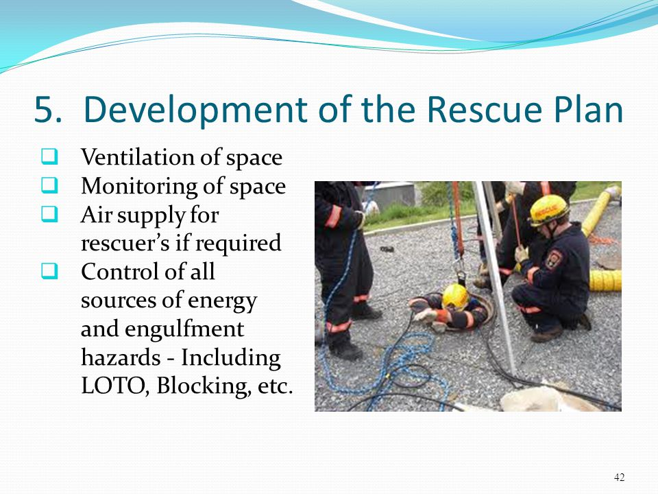 5. Development of the Rescue Plan