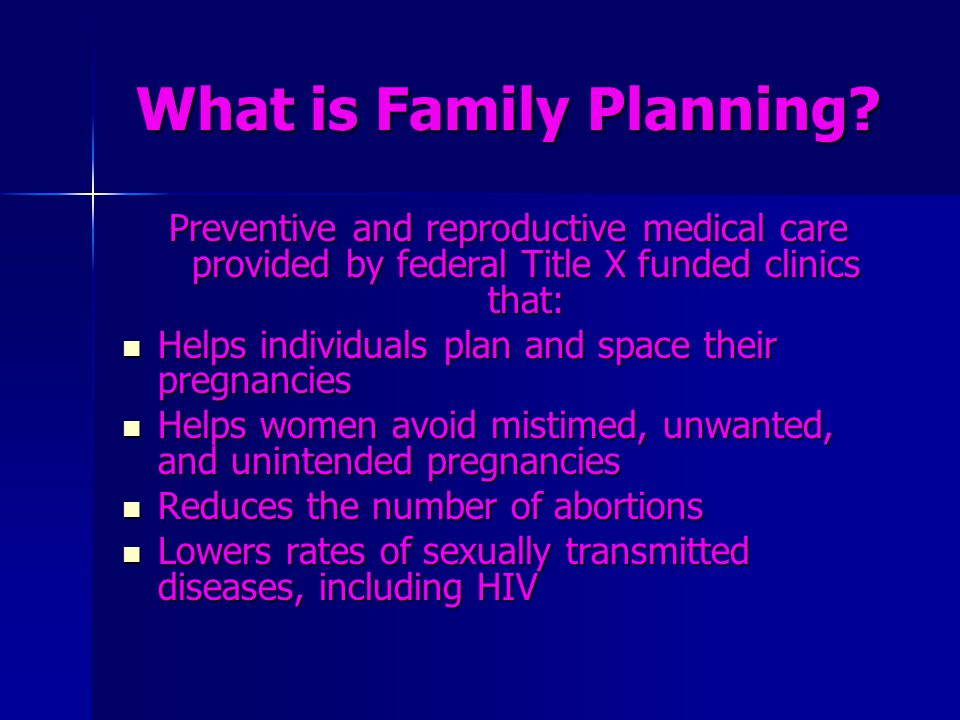 What is Family Planning