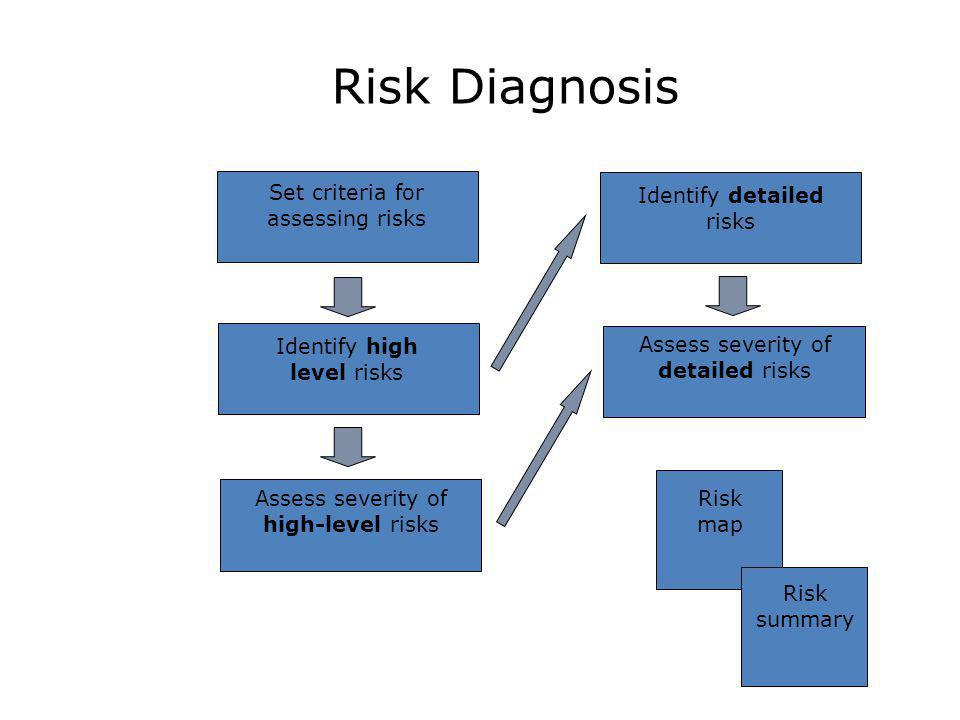 Risk Diagnosis Assess severity of high-level risks