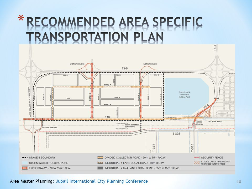 RECOMMENDED AREA SPECIFIC TRANSPORTATION PLAN