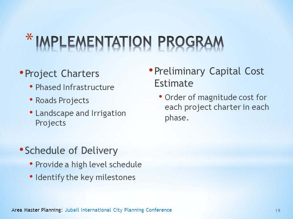 Implementation Program