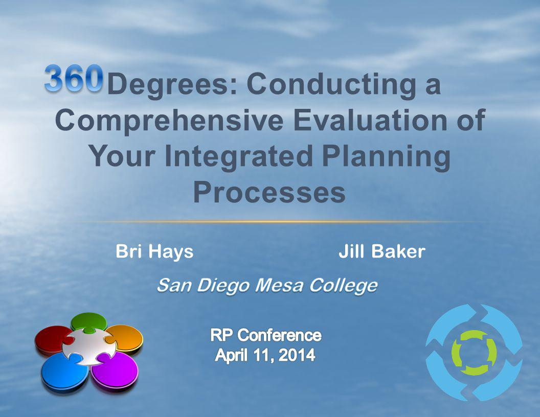 360 Degrees: Conducting a Comprehensive Evaluation of Your Integrated Planning Processes. Bri Hays.