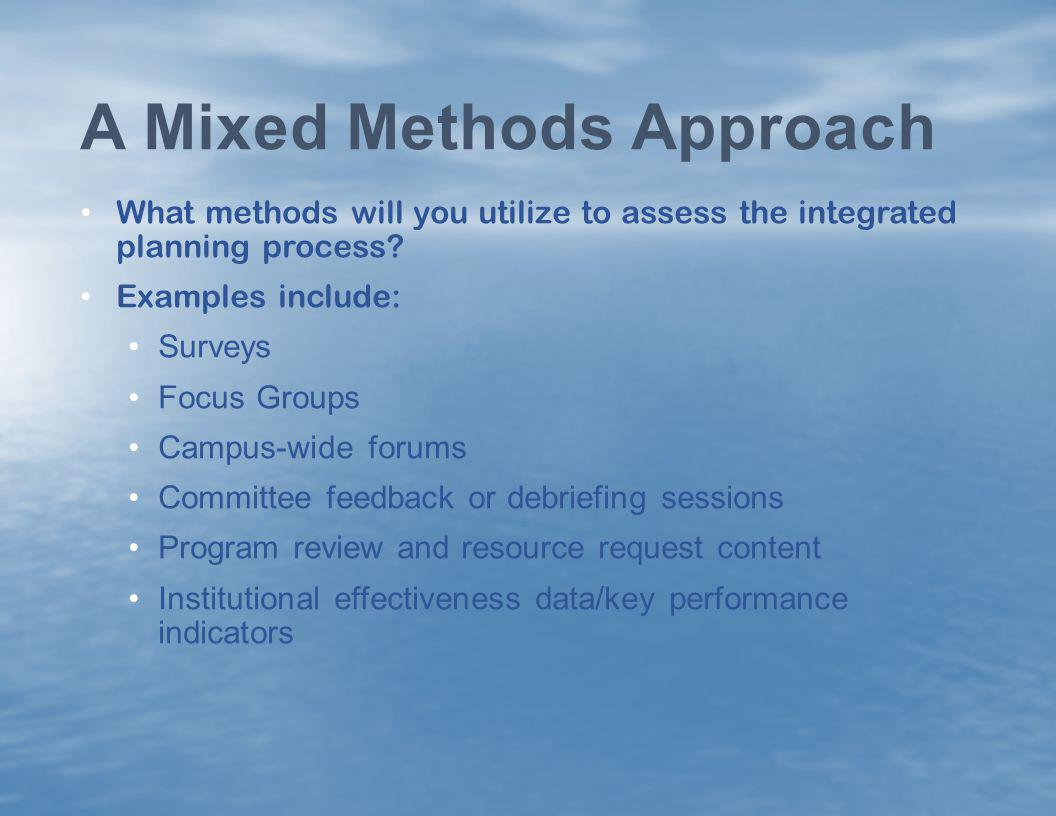 A Mixed Methods Approach