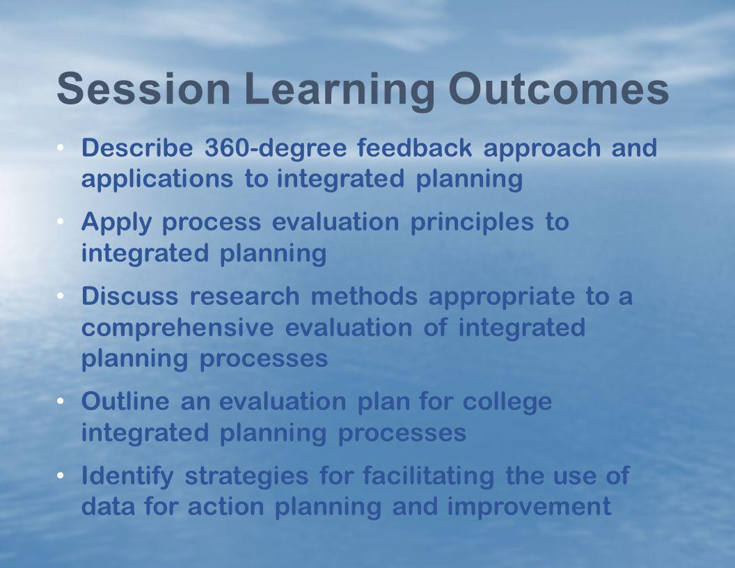 Session Learning Outcomes