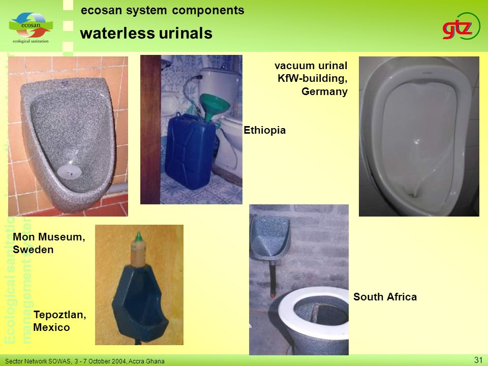 waterless urinals ecosan system components vacuum urinal