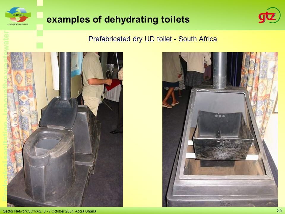 Prefabricated dry UD toilet - South Africa