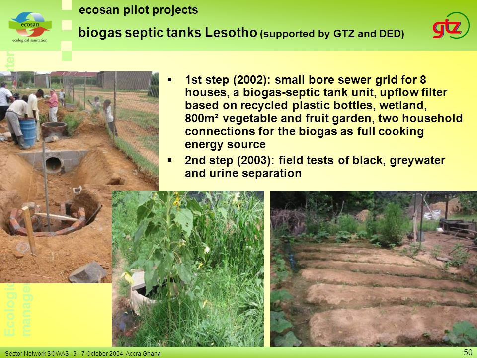 biogas septic tanks Lesotho (supported by GTZ and DED)