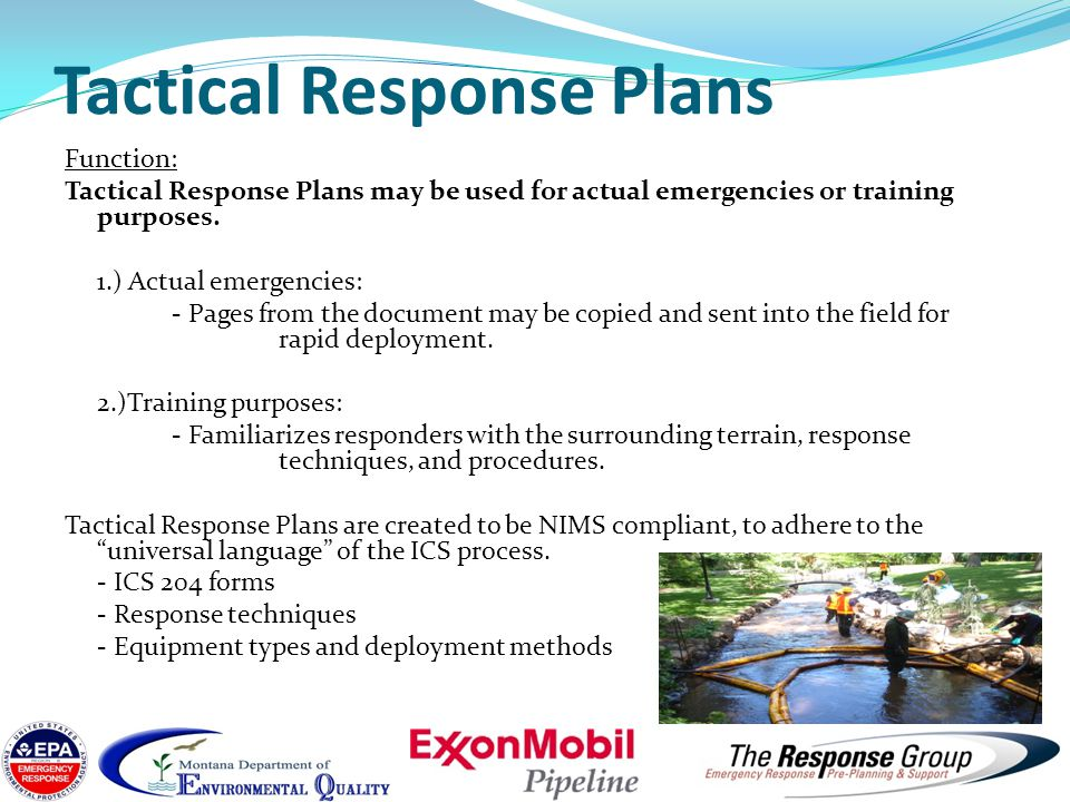 Tactical Response Plans