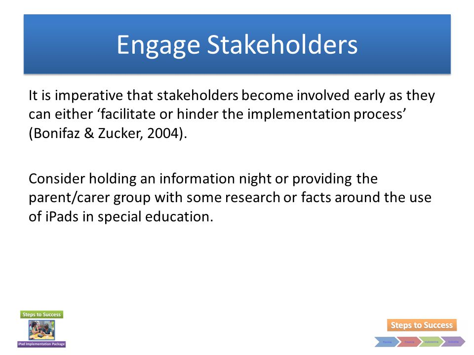Engage Stakeholders